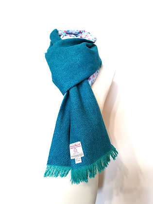 Harris tweed self tying scarf