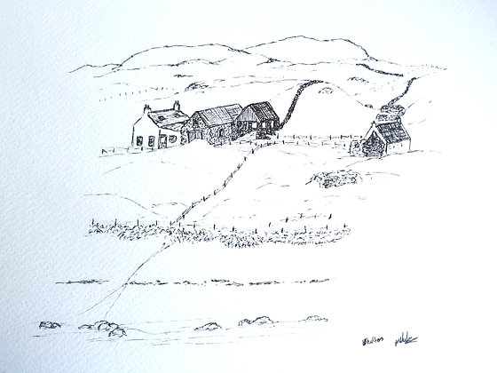 Original pen drawing