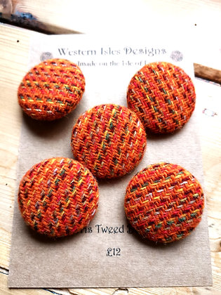 Harris tweed buttons
