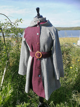 Harris tweed ladies coat