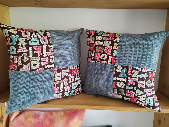 Harris tweed cushion covers