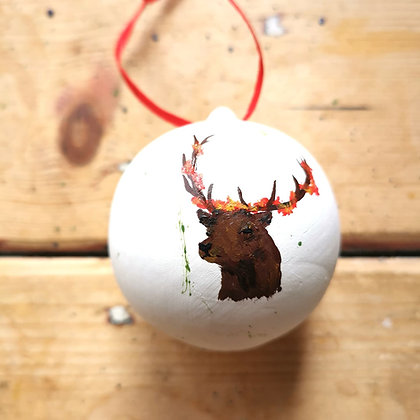 Hand painted Christmas Bauble made to order