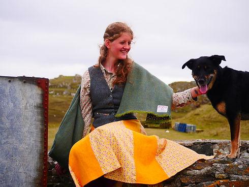 harris tweed waistcoat skirt scarf