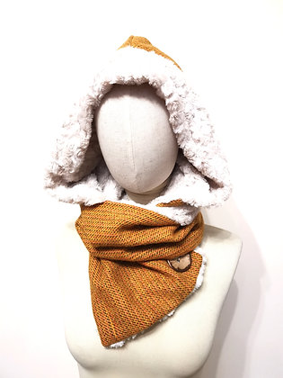 Harris tweed Hooded scarf