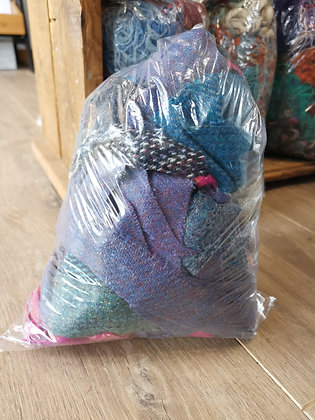 Reserved for Josephine Harris tweed offcut bag mixed