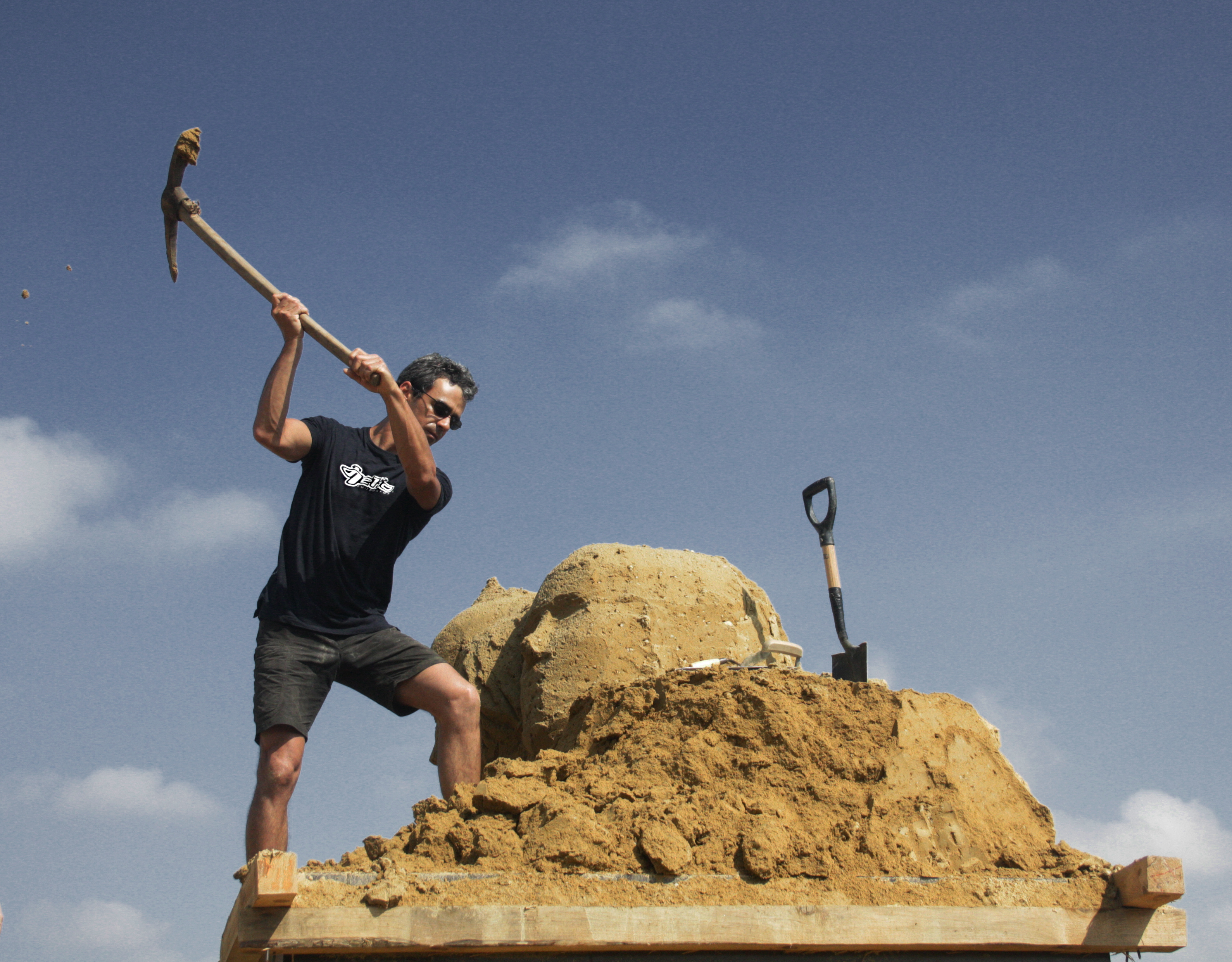 Esculpindo areia dura
