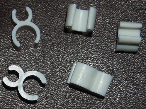 "**3/16"" White Wire Frame Light Clips"