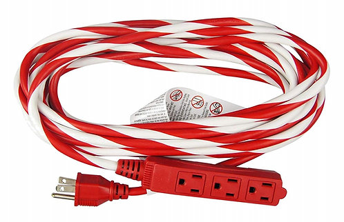 Candy Cane Striped Extension Cord