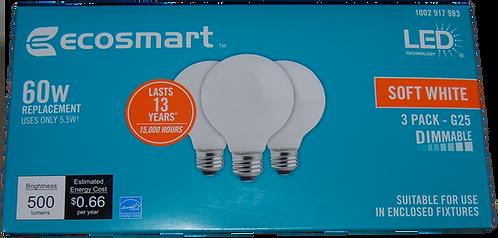G25 LED Light 3PK (dimmable)