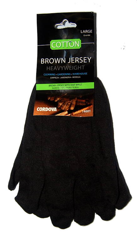 **Brown Jersey Gloves
