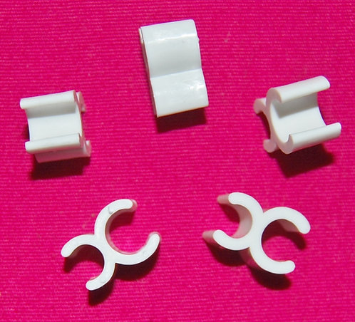 "1/4"" White Wire Frame Light Clips"