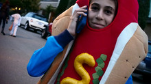 Hot Dogs With Cell Phones (Halloween in Belvedere)