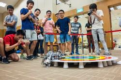 Top+ students at robotics contest.