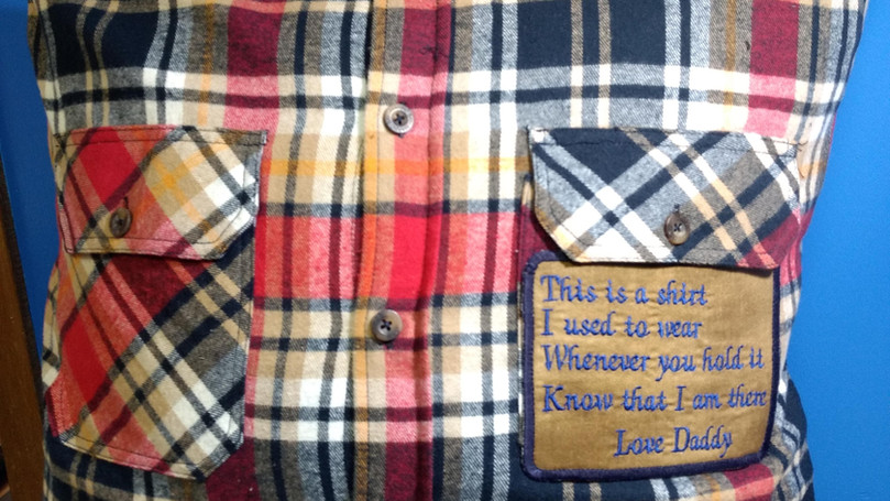 Memory Pillow with Poem