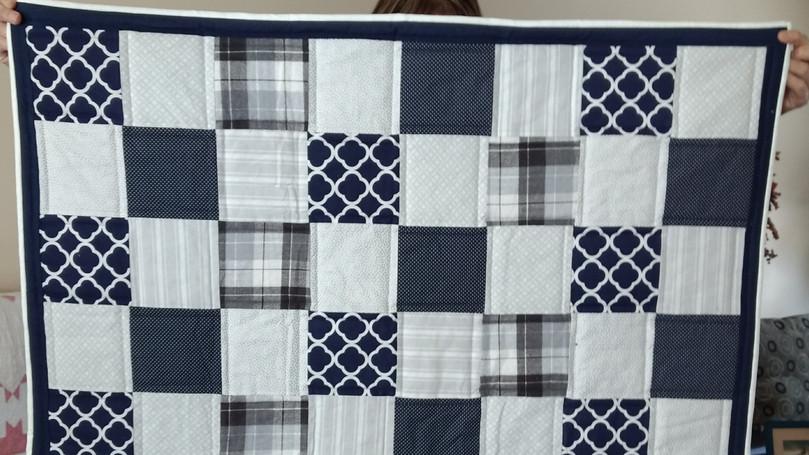 Basic Block Baby quilt