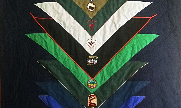Boy Scout Scarf Quilt