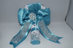 Blue diamante keepsake bouquet