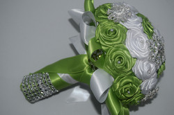 Green and White keepsake bouquet