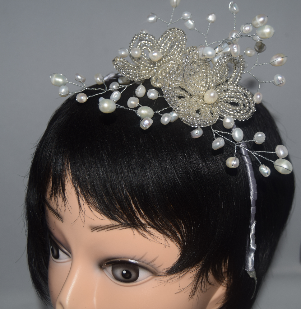 Freshwater pearl tiara alice band