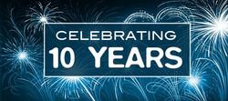 Celebrating 10 Years in service