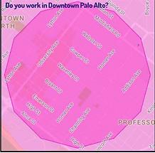 Lyft limit for Downtown Palo Alto