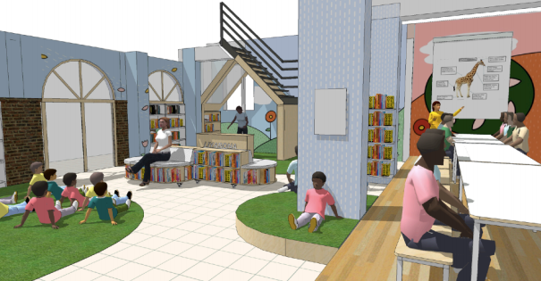 Liyabona library, Holy Cross Primary School, new library