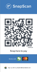 Snapscan QR code for the Holy Cross library rebuild