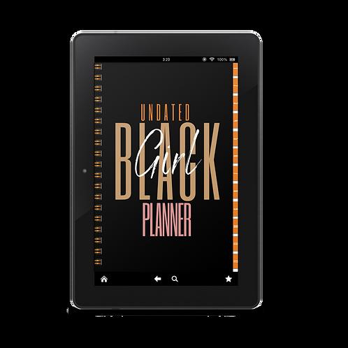 Undated Black Girl Digital/Printable Planner