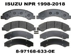 Replacement for Isuzu NPR 1998-2018 Brake Pads.