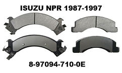 Replacement for Isuzu NPR 1987-1997 Brake Pads