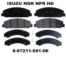 Replacement for Isuzu NQR, NPR HD Brake Pads.