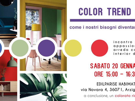 COLOR TREND 2018 - come i nostri bisogni diventano tendenze -