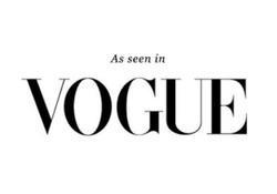 Seen In Vogue Magazine
