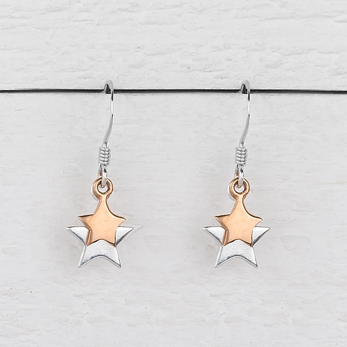 Cassiopeia Rose Gold Star Earrings