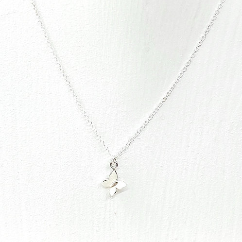 Cressida Butterfly Silver Necklace