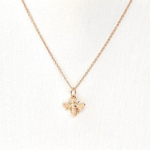 Belinda Rose Gold Bee Necklace