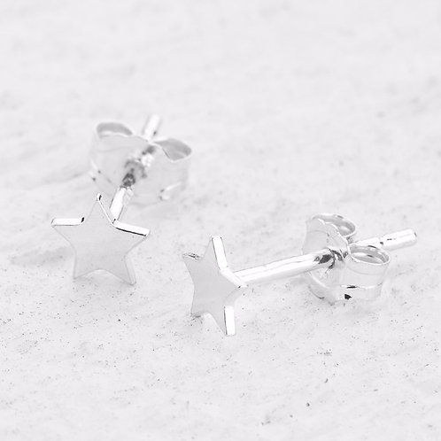 Cassiopeia Silver Stud Star Earrings