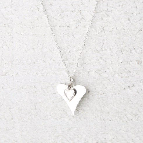 Katie Silver Heart Necklace