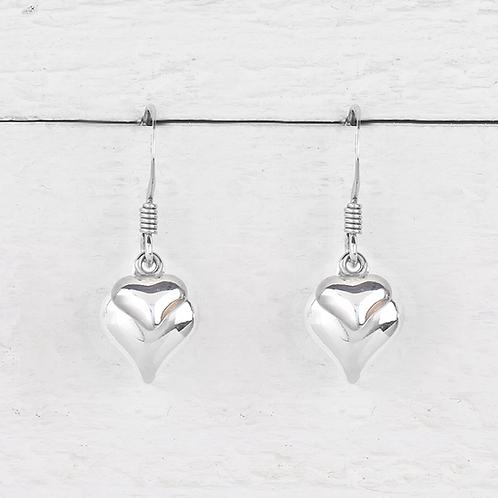 Davina Silver Heart Earrings