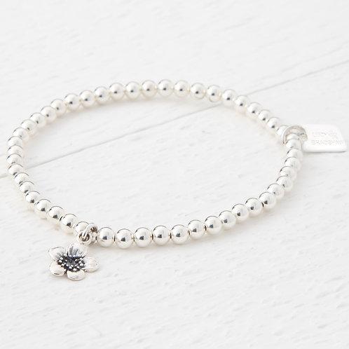 Emika Silver Blossom Flower Bracelet