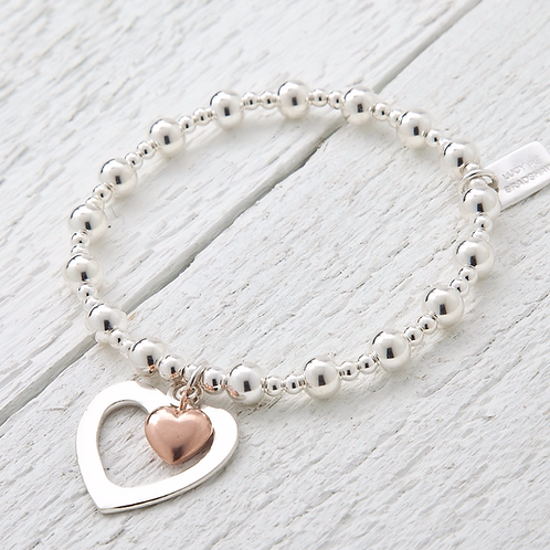 Sophia Rose Gold Heart Bracelet