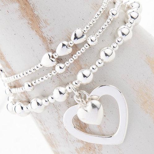 Sophia Silver Bracelet Set