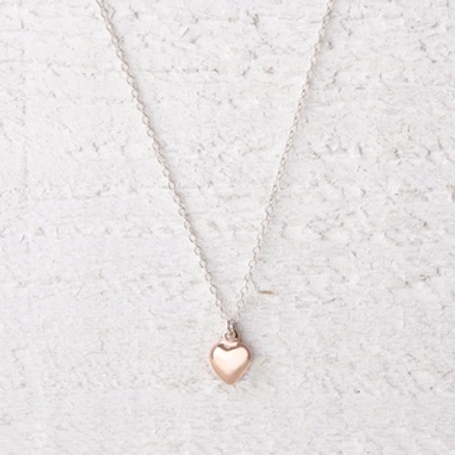 Jessica Rose Gold Heart Necklace