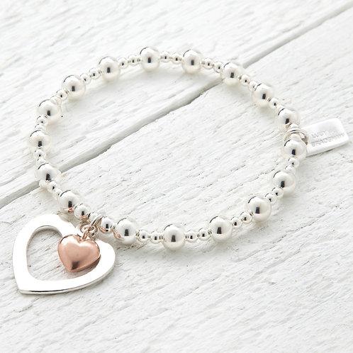 Seconds - Sophia Rose Gold Heart Bracelet