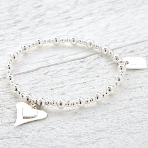 Katie Silver Heart Bracelet