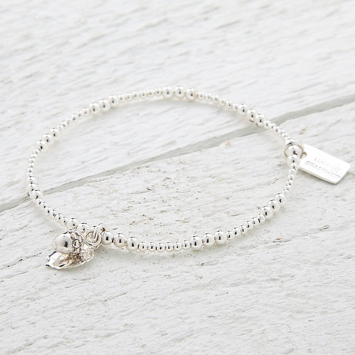 Rubra Silver Acorn Bracelet