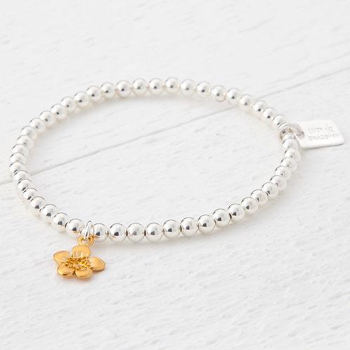 Emika Gold Blossom Flower Bracelet