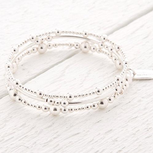 Imogen Sterling Silver Bracelet Stacking Set