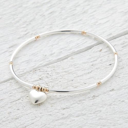 Mina Gold & Silver Heart Bracelet