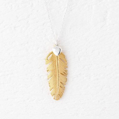 La Plume Large Gold Necklace